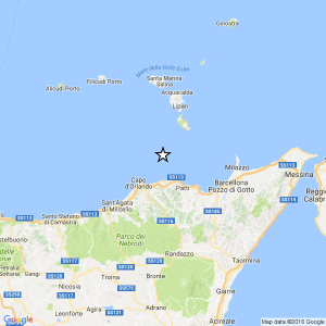 Terremoto ML 2.1 il 15-05-2017 ore 12:37 Costa Siciliana nord orientale Messina