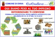 Enna: avvio alla raccolta differenziata con premialità