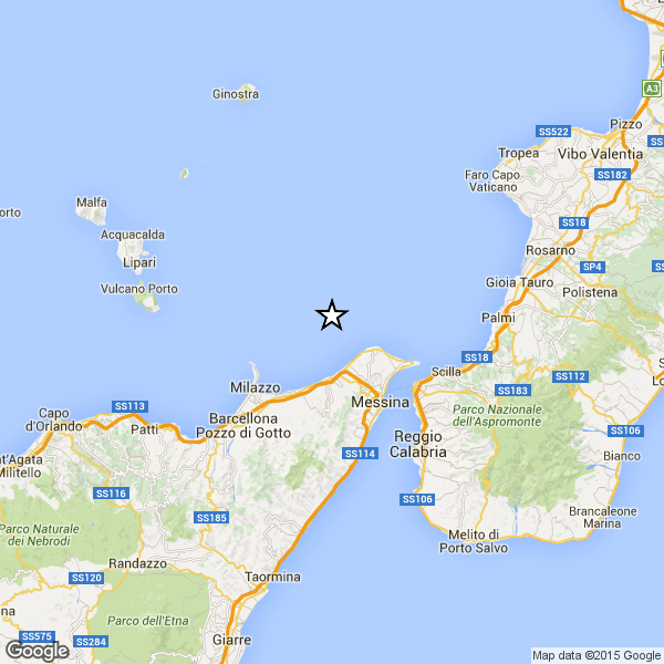 Terremoto ML 2.6 il 26-06-2020 ore 08:49 Costa Siciliana nord orientale (Messina)