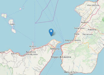 Terremoto ML 2.1 il 07-07-2020 ore 22:58 Costa Siciliana nord orientale (Messina)