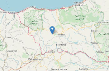 Terremoto ML 1.3 il 31-01-2021 ore 03:52:54 a 3 km NW Sperlinga